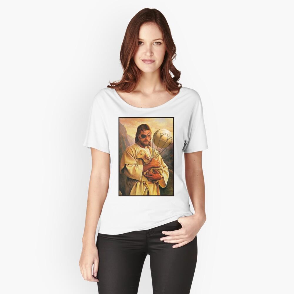Venom Jesus Snake - parody Women's Relaxed Fit T-Shirt Front