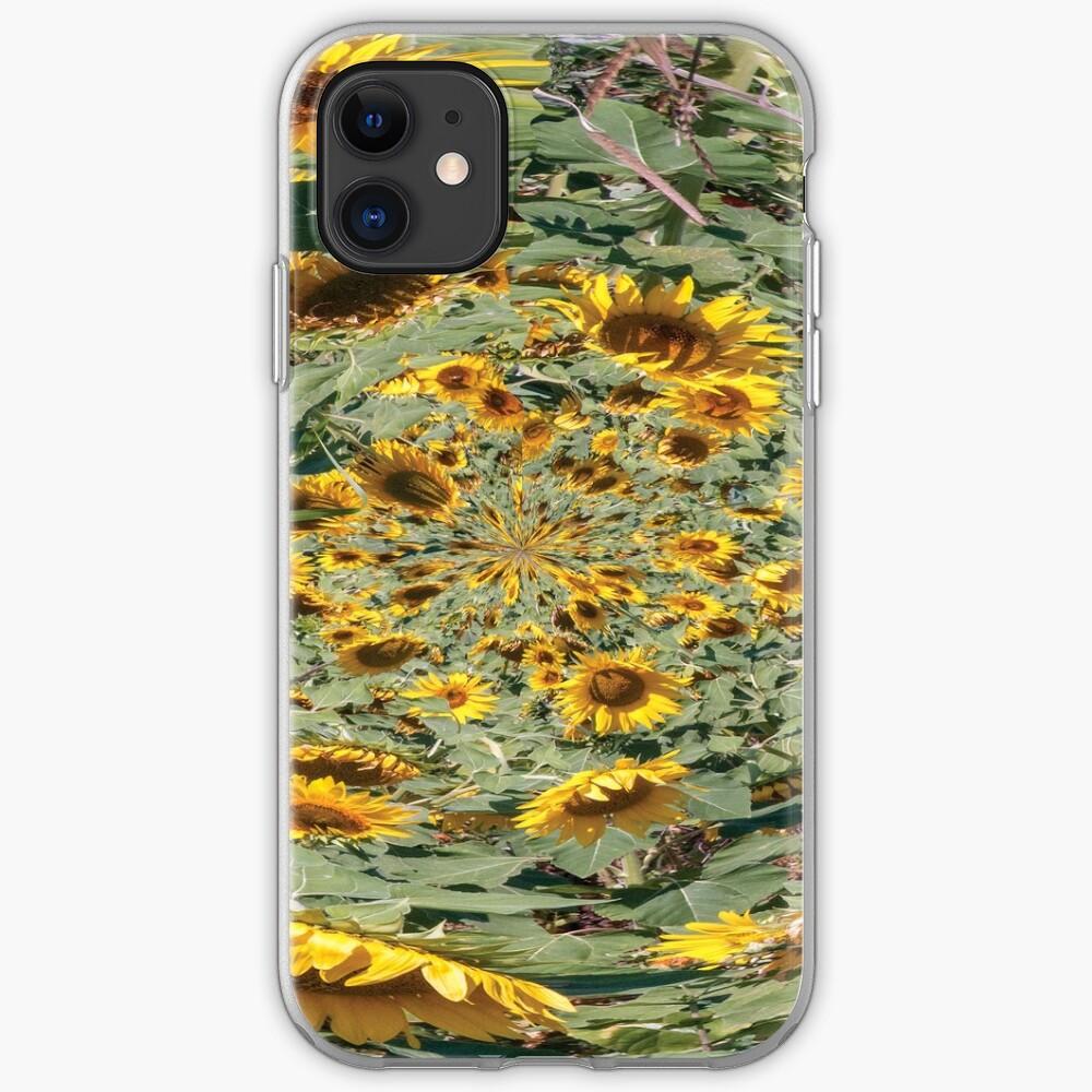 sunflowers vortex iPhone Soft Case