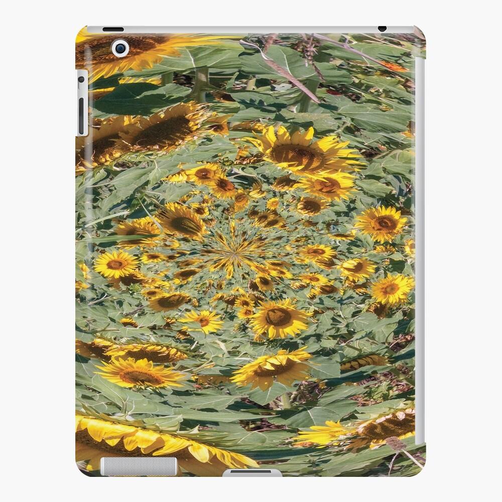 sunflowers vortex iPad Snap Case