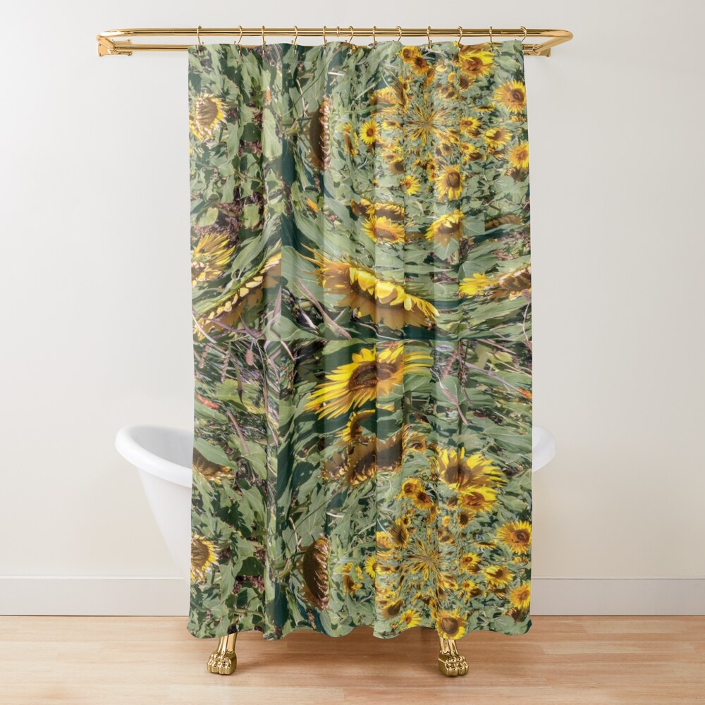 sunflowers vortex Shower Curtain