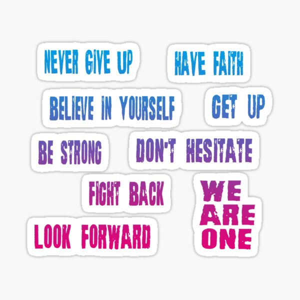 Motivational Quotes Sticker Pack Sticker