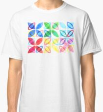 Rainbow Watercolor Pattern  Classic T-Shirt