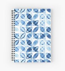 Blue Watercolor Pattern  Spiral Notebook