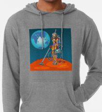 Mädchen-Astronaut Ökologie Lightweight Hoodie
