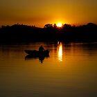 Man in the boat by John Vandeven