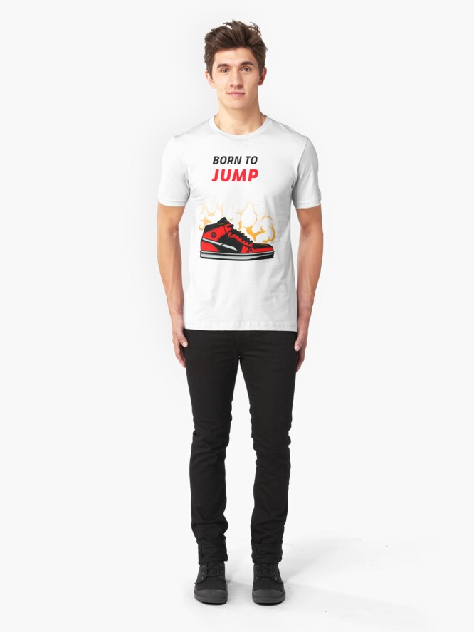 Alternate view of Born to Jump, basketball tee Slim Fit T-Shirt