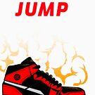Born to Jump, basketball tee by Gail Francis (GaFra)