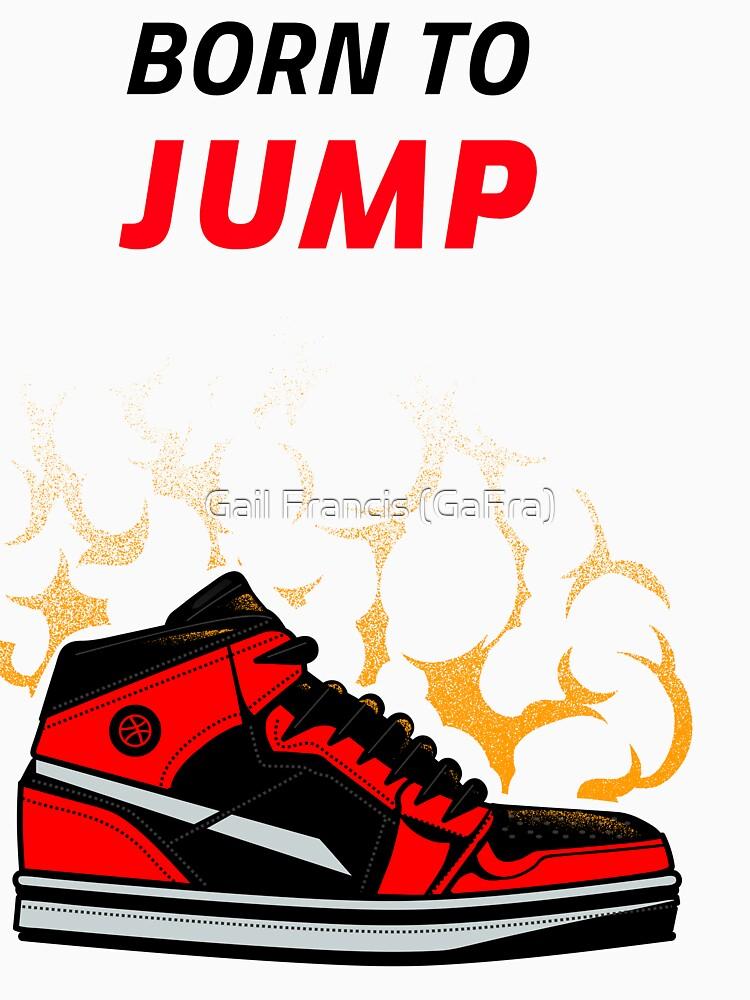 Born to Jump, basketball tee by TriniArtStudio