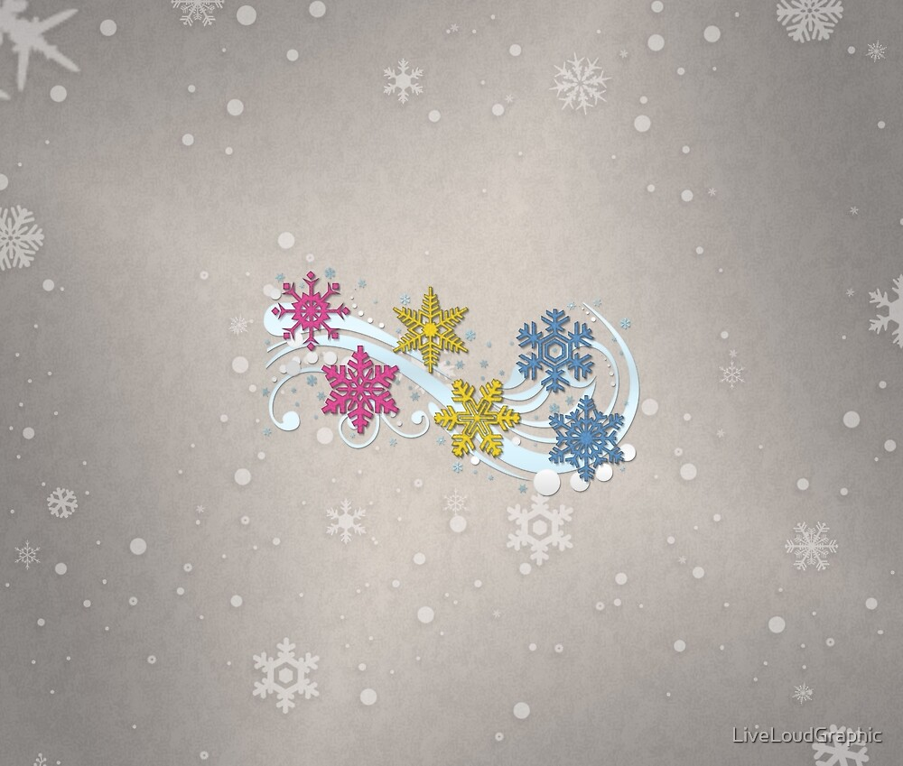 Pansexual Snowflakes by LiveLoudGraphic