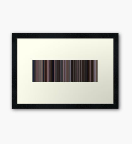 Moviebarcode: The Big Lebowski (1998) [Simplified Colors] Framed Print