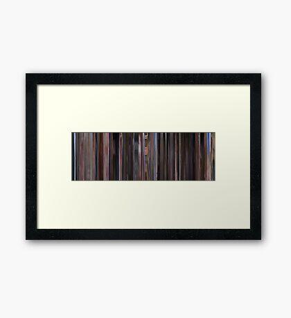 Moviebarcode: The Big Lebowski (1998) Framed Print