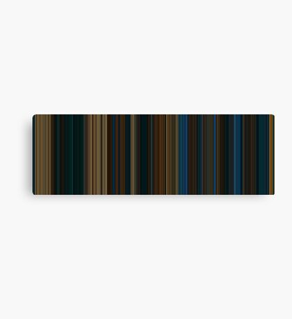 Moviebarcode: Pan's Labyrinth (2006) [Simplified Colors] Canvas Print