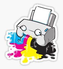 Puker Printer Sticker