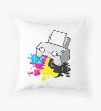 Puker Printer Throw Pillow