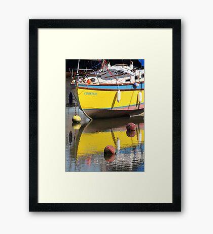 Yellow Boat Framed Print