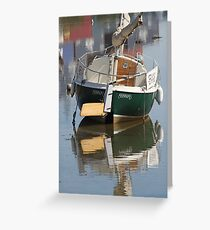 Little Green Boat Greeting Card