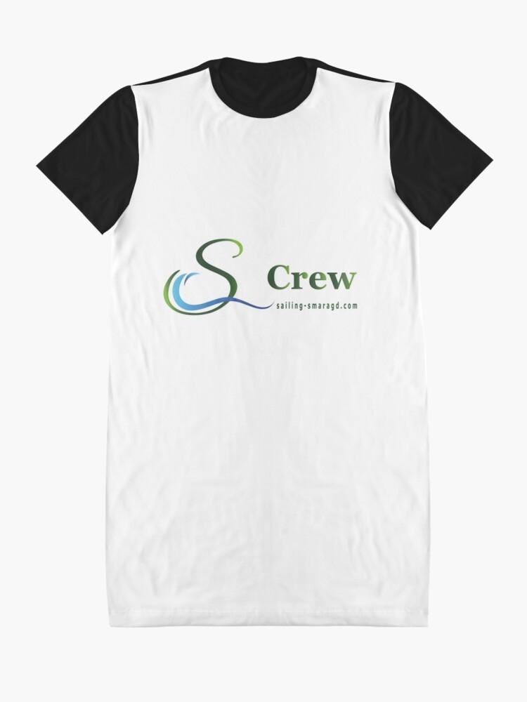 Alternative Ansicht von Smaragd-Crew T-Shirt Kleid