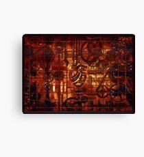 Steampunk Coronary Clockwork Gears Canvas Print
