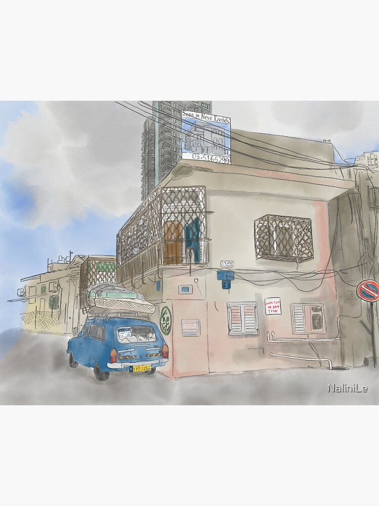 Neve Tzedek street with old car (Tel Aviv) by NaliniLe