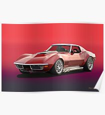 1969 Corvette Stingray Poster