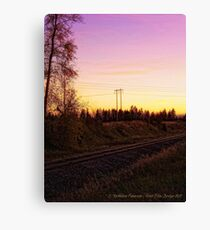 Rural Tracks (Columbia Falls, Montana, USA) Canvas Print