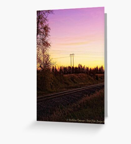 Rural Tracks (Columbia Falls, Montana, USA) Greeting Card