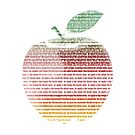 Apple a day colorful t shirt by Fun Arts