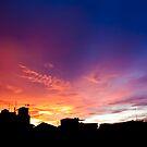 Cityscape Sunset - Jakarta Residential Area by jughead149