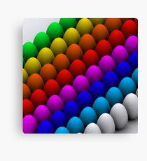 Colorful eggs Canvas Print