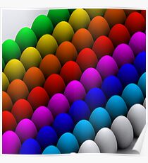 Colorful eggs Poster