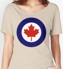 Royal Canadian Air Force Insignia Women's Relaxed Fit T-Shirt