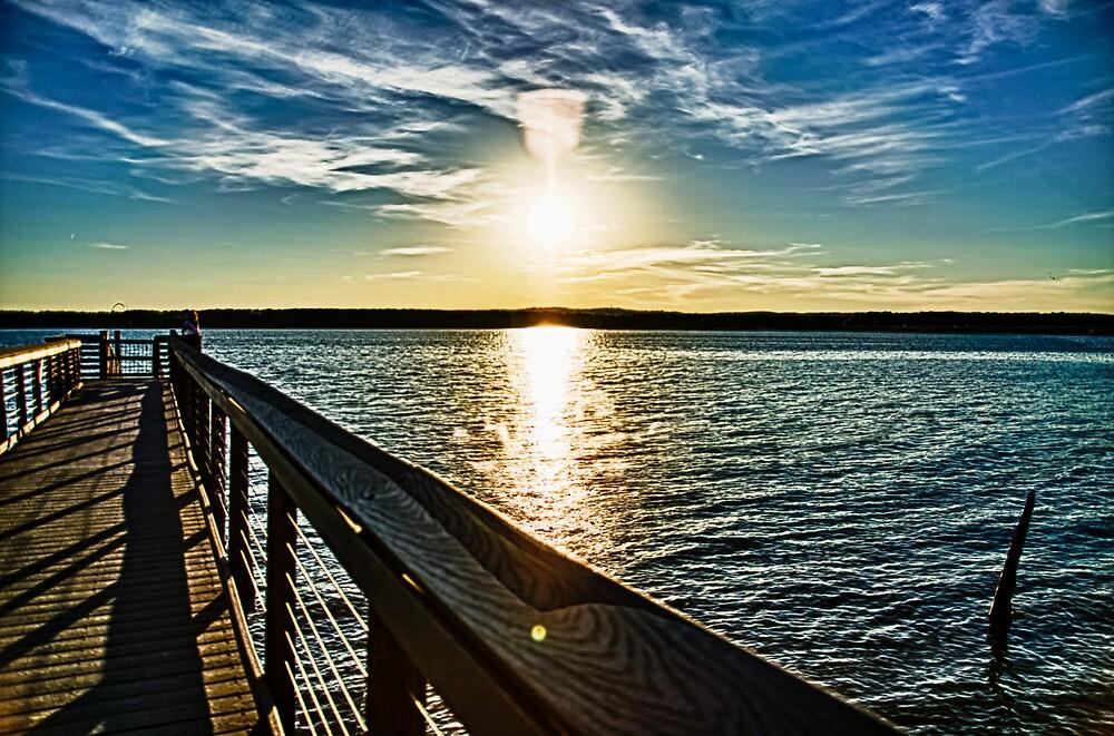Jordan Lake Pier by DBGuinn