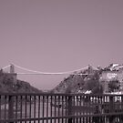 Clifton suspention bridge B/W by jams