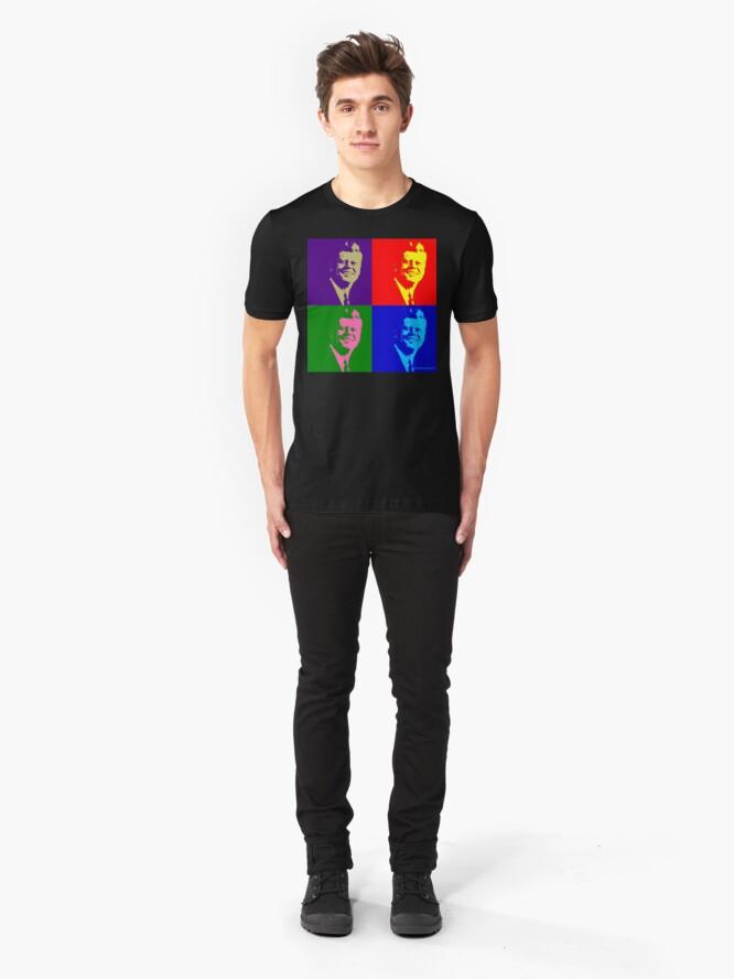 Alternate view of JFK Pop Art Slim Fit T-Shirt