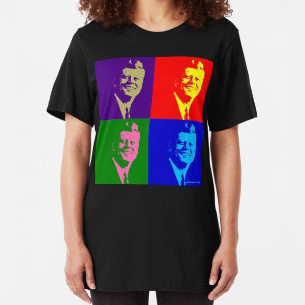 JFK Pop Art Slim Fit T-Shirt