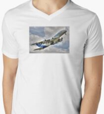 Airbus A380 V-Neck T-Shirt