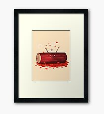 Pumpkin Spice Log(tte) Framed Print