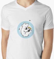 Honeybear T-shirt Mens V-Neck T-Shirt