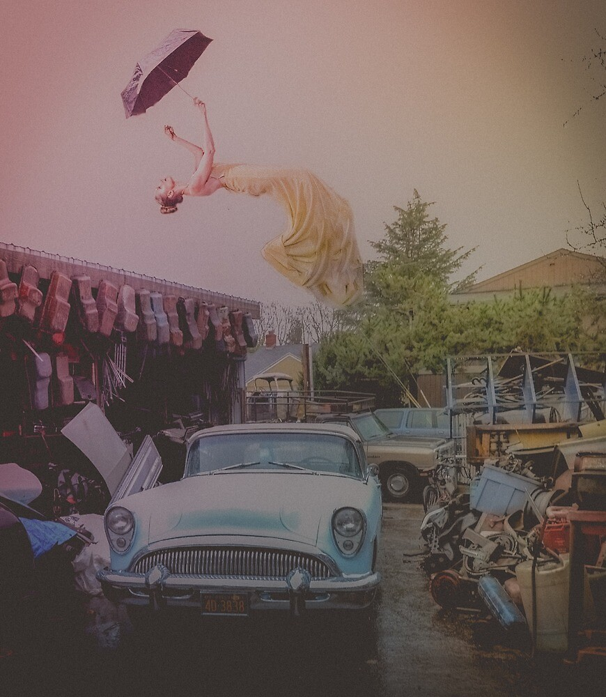 Levitation Image - Floating in the Rain by jadybates