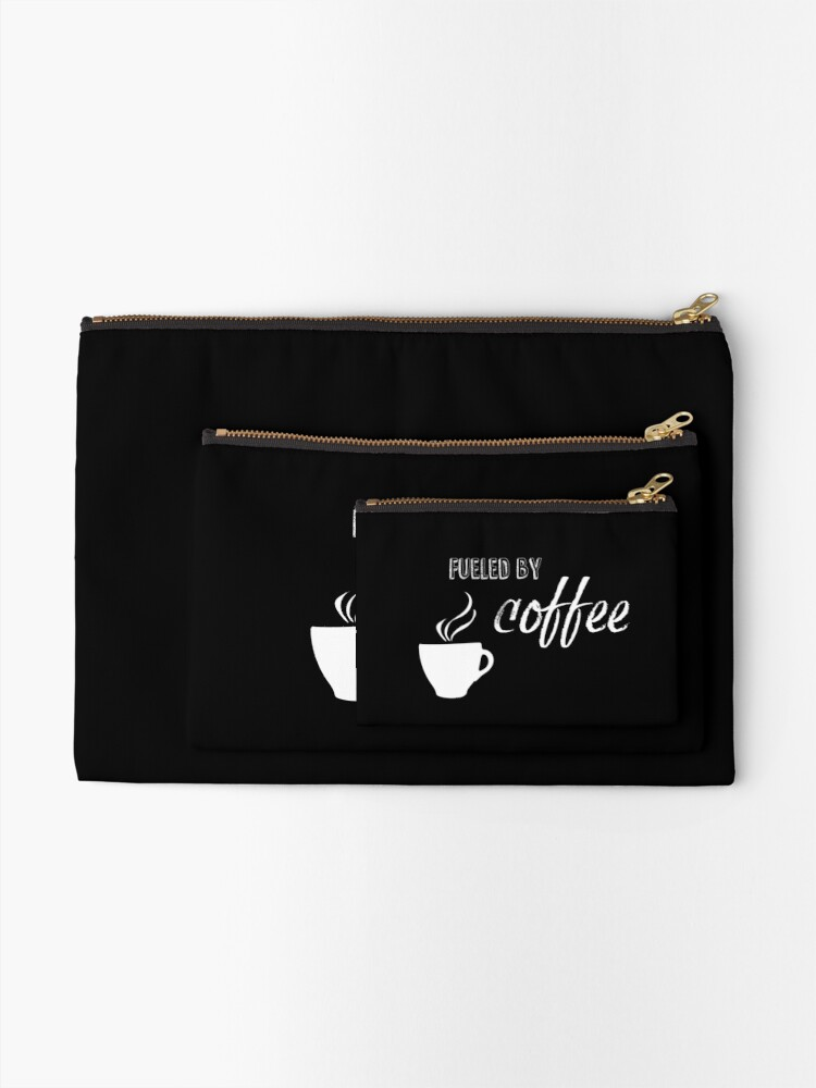 Alternate view of Fueled by coffee Zipper Pouch