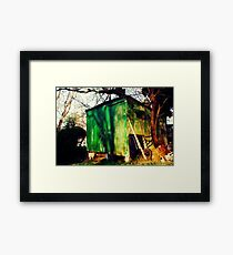 Shedding Green Framed Print