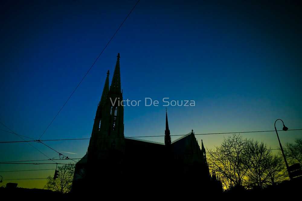 Silhouette At Sunset by Victor De Souza
