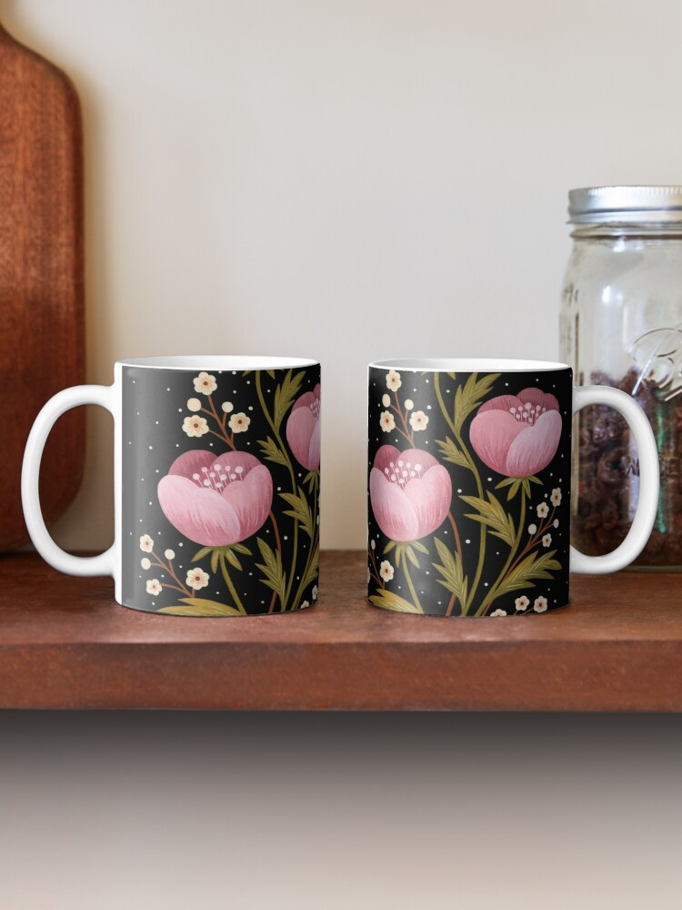 Alternate view of Blooms in the dark Mug