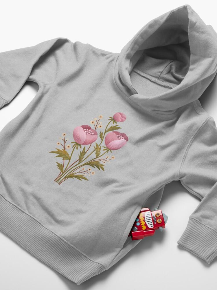 Alternate view of Blooms in the dark Toddler Pullover Hoodie