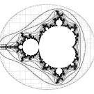 Transparent (For stickers)  - Linear Mandelbrot by Rupert Russell