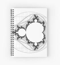 Transparent (For stickers)  - Linear Mandelbrot Spiral Notebook