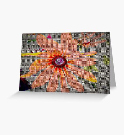 Light orange flower design Greeting Card