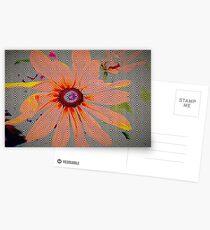 Light orange flower design Postcards