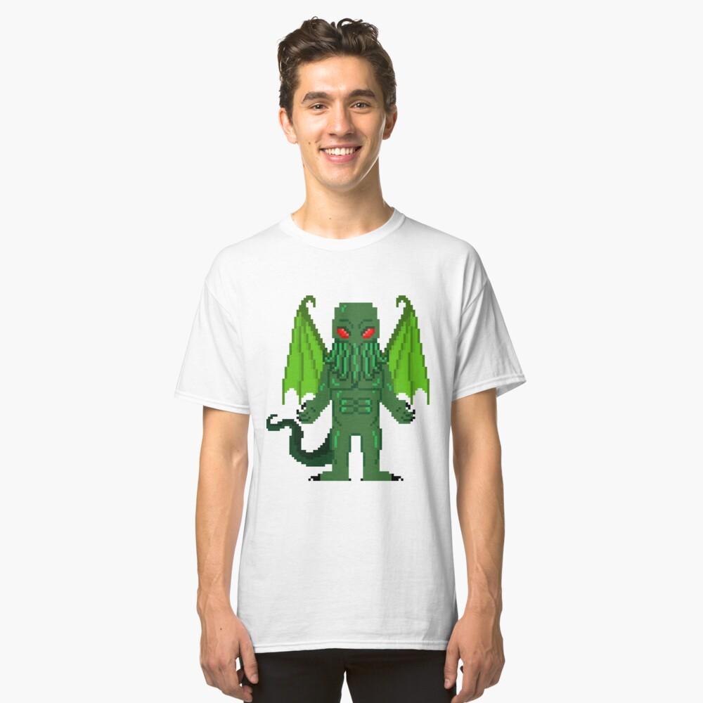 8-Bit Cthulhu Classic T-Shirt