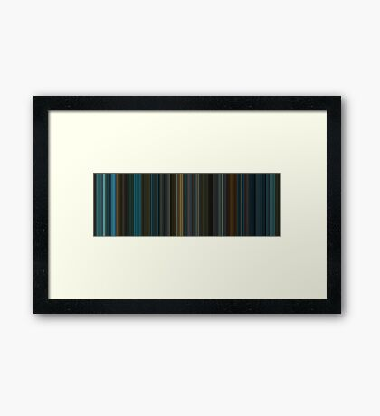 Moviebarcode: Blade Runner (1982) [Simplified Colors] Framed Print
